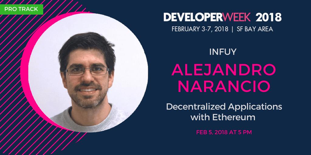 Infuy as a speaker in DeveloperWeek (San Francisco, USA)